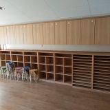 天王寺真法院保育園 幼児用ロッカー、画用紙棚